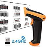 1D Wireless & Wired Automatic Fast Laser Barcode Scanner 2.4GHz wireless and USB cable connection 2.4G wireless communication Wireless Barcode Scanner 2.4GHz Handheld Cordless Bar-code Reader USB