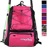 Athletico Baseball Bat Bag - Backpack for Baseball, T-Ball & Softball Equipment