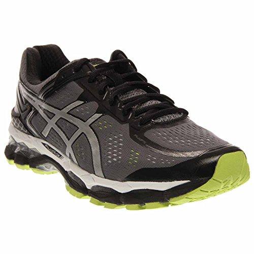ASICS Men's Gel Kayano 22 Running Shoe, Charcoal/Silver/Lime, 11 M US