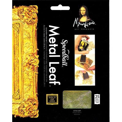 (Mona Lisa Gold Leaf Composition 25 sht Pkg 5 1/2