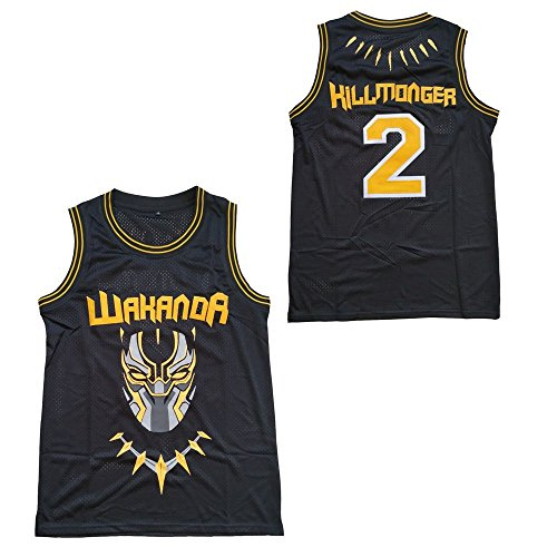9d45da104 Supereasydeal  2 Black Panther Wakanda Killmonger Movie Basketball Jersey  Men Black