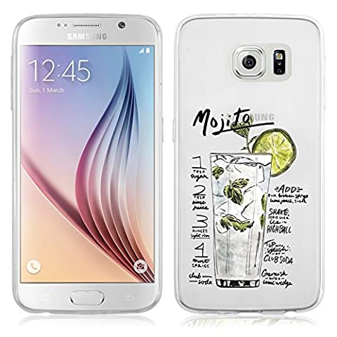 Galaxy S6 Case, JAMMYLIZARD Invisible Gel Sketch Clear Design Back Cover for Samsung Galaxy S6, (Galaxy S6 Phone Pre Order)