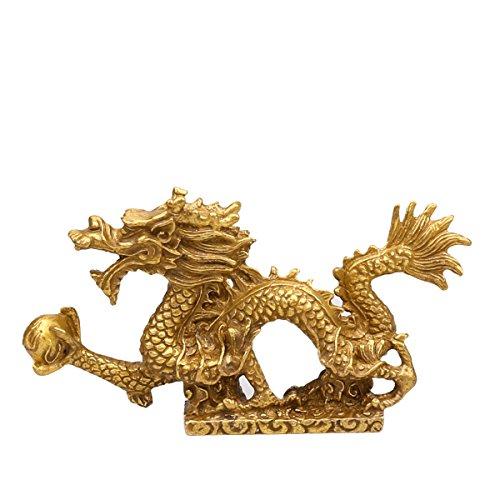(Yaoyijun Feng Shui Dragon/feng Shui Goods Brass Dragon Statue Sculpture )