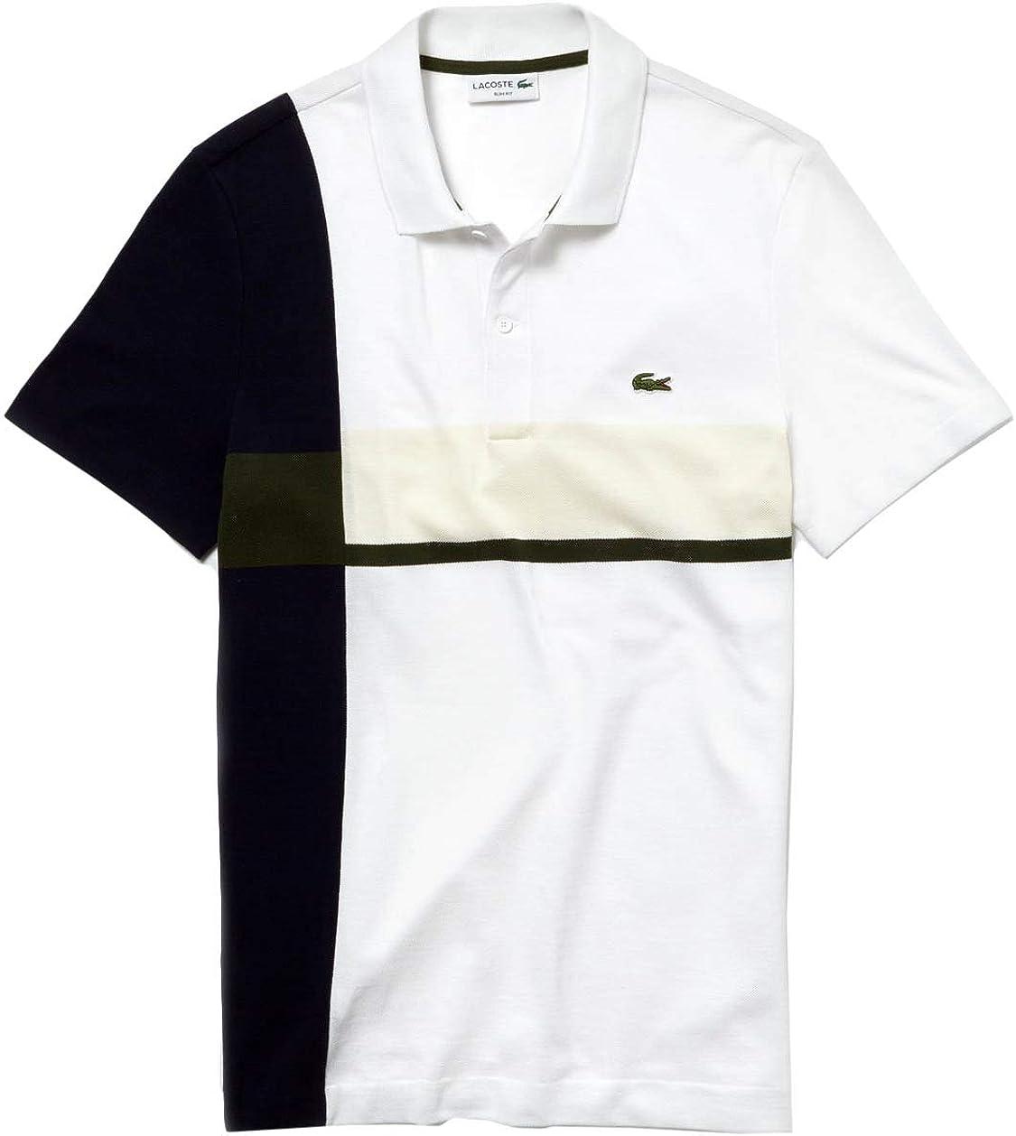 Lacoste Polo Color Block Blanco Hombre 3 Blanco: Amazon.es: Ropa y ...