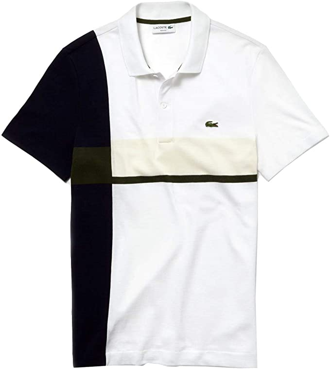 Lacoste Polo Color Block Blanco Hombre 3 Blanco: Amazon.es: Ropa y ...
