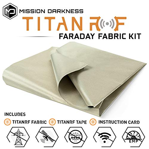 (TitanRF Faraday Fabric // EMI & RFID Shielding/Cell, WiFi & Bluetooth Blocking/Military Grade Shielding Fabric (44