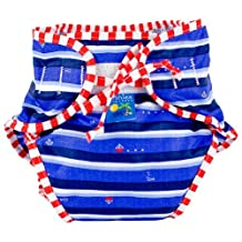 Kushies Swim Diaper, Blue Ahoy Print, X-Large by Kushies