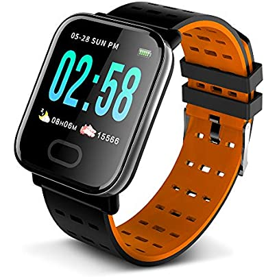 Lixada Smart Bracelet Fitness Tracker Large Screen Health Monitoring Blood Pressure Heart Rate Sleeping Sports Detecting Messages Reminder Smart Wristband Estimated Price £16.99 -