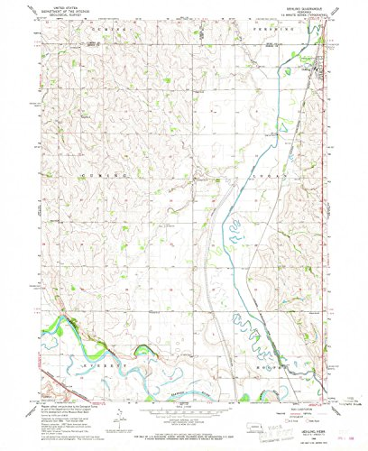 YellowMaps Uehling NE topo map, 1:24000 scale, 7.5 X 7.5 Minute, Historical, 1966, updated 1967, 26.9 x 22 IN - Tyvek