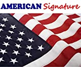 American Flag 3 x 5 ft Made in USA by FMAA Certified Manufacturer. Indoor Outdoor US Flags 3×5 ft Embroidered Stars and Sewn Stripes with Brass Grommets For Sale
