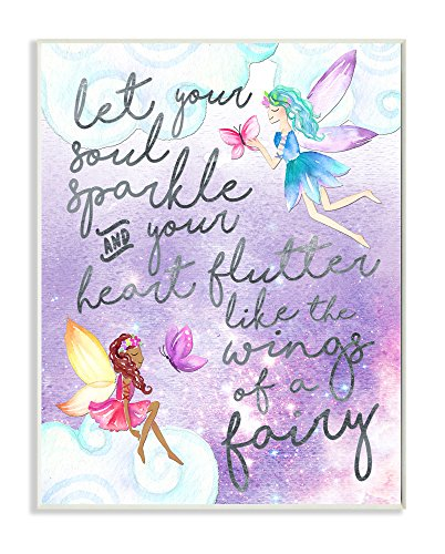 The Kids Room by Stupell The Let Your Soul Sparkle Fairies Painting Plaque Art Decorative Wall Hangings