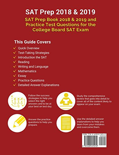 SAT Prep 2018 /& 2019 SAT Prep Book 2018 /& 2019 and Practice Test Questions for the College Board SAT Exam