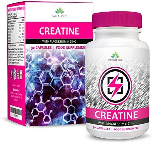 Creatina - Monohidrato de Creatina con Magnesio, Zinc ...