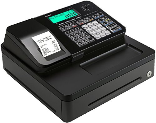 Casio PCR T-285 Caja Registradora Alfanumerica, Color Negro