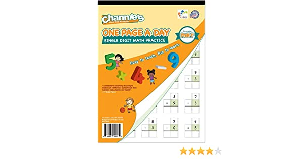 Amazon.com : Channie's One Page A Day Single Digit Math Problem ...