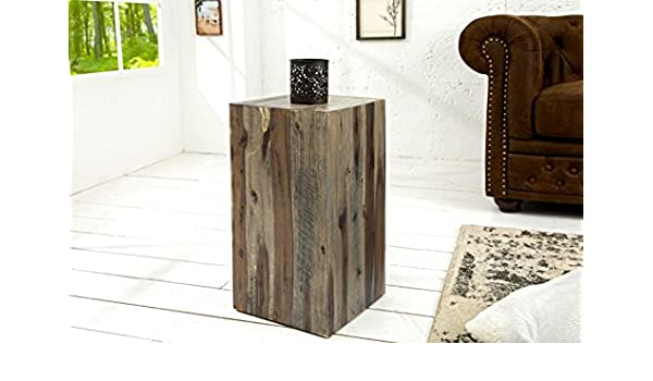 DuNord Design Catan - Columna decorativa (50 cm, madera maciza), diseño de flores: Amazon.es: Juguetes y juegos