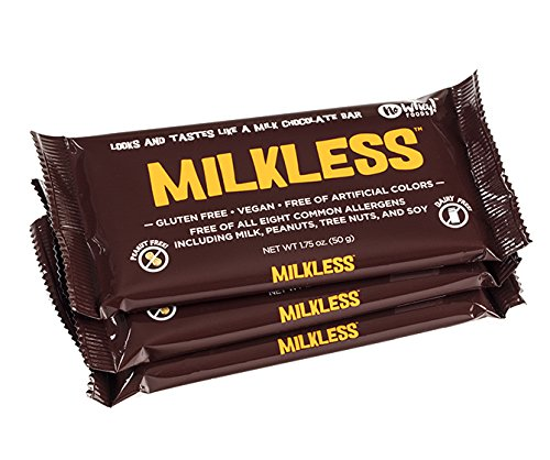 (No Whey Vegan Chocolate Bar (3 Pack) - Milkless Dairy Free Chocolate Candy - Milk, Nut, Soy and Gluten Free Chocolate)