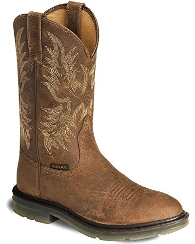 Traditional Western Work Boots - Ariat Men's Maverick Ii Pull-On Work Boot Soft Toe Brown 12 EE US