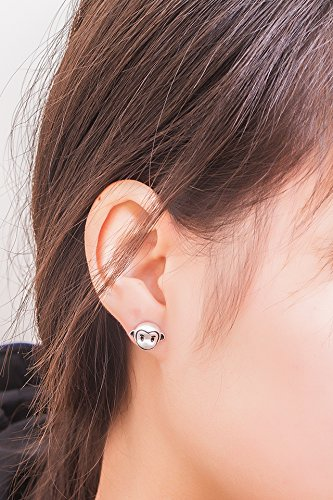 Generic 925 silver earrings women girls lady personality super cute little animals Meng little monkey earrings jewelry simple Beautiful small fresh