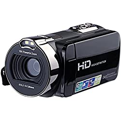 "KINGEAR HDV-312 24MP HD 1080P 2.7"" LCD Scrren Digital Video Camcorder with 16x Digital Zoom 270°Rotation"