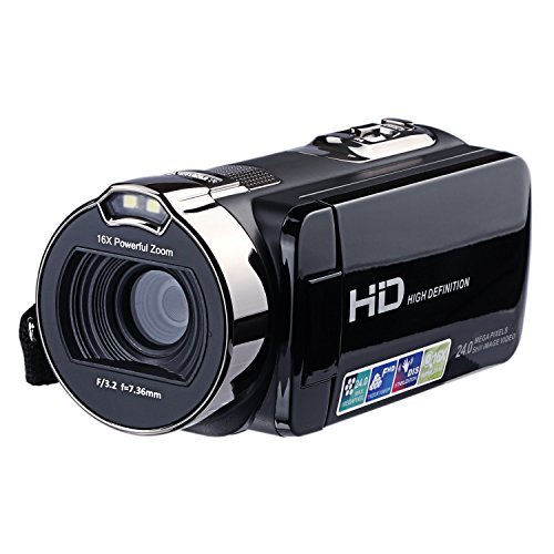 KINGEAR HDV-312 24MP HD 1080P 2.7″ LCD Scrren Digital Video Camcorder with 16x Digital Zoom 270°Rotation