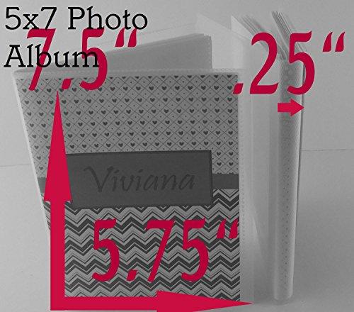 Airplane Photo Album IA#113 4x6 or 5x7 Personalized Baby Shower Birthday Gift Grandma's Brag Book Boy Blue Orange Chevron by JaDazzles (Image #5)