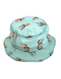 ZLYC Unisex Cute Print Bucket Hat Summer Fisherman Cap