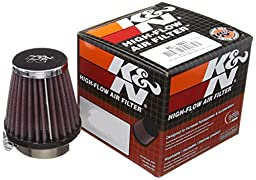 K&N RC-1090 High Performance Universal Clamp-on Chrome Air Filter