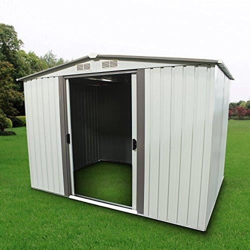 Sliverylake 8' x 6' Outdoor Steel Garden Storage Utility Too