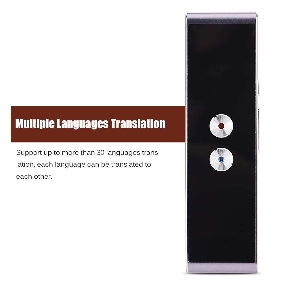 Traduttore Istantaneo,Bluetooth 2.4G Smart Pocket Translator Supporto 30 Lingue,Traduzione Vocale/&Testo,Traduzione in Tempo Reale per Viaggi Business Chat Tangxi Traduttore Simultaneo