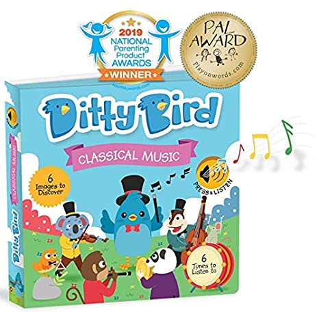Classical Music Sound Book for Babies with Melodies Mozart | Fresh New  Batteries Included  Educational Toys Ages 1-3  Baby Books for one Year Old