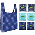 Aibrisk Set of 6 Eco-Friendly Reusable Washable Grocery Bags