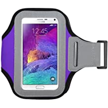 Avarious Neoprene Armband for Alcatel Flash (2017), 5.5-inch, Purple