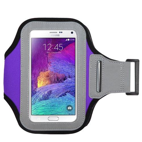 Avarious Sports Exercise Workout Armband Case for Sony Xperia XA1 Ultra / XZ Premium / XZs / L1 / V7 / XA Ultra / XZ / Z3 / C3 / T3 / Z2 (Purple)