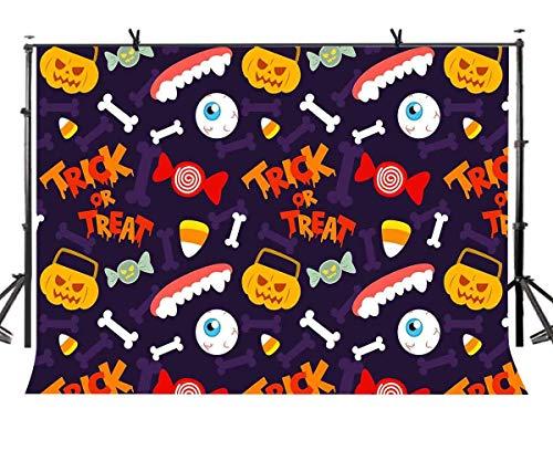 SZZWY 7x5ft Halloween Elements Backdrop Colorful Style Funny Halloween Elements Photography Backdrop Photo Studio Photography Background Props Party Photo Photography Props LYGY285