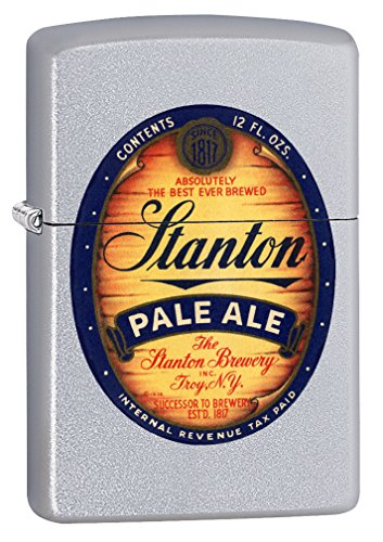 Zippo Lighter: Stanton Pale Ale - Satin Chrome 64045