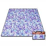 200200cm Picnic Mat Moistureproof Pad Outdoor Carpet Waterproof Turf Mat Cloth (Color : Style 1)