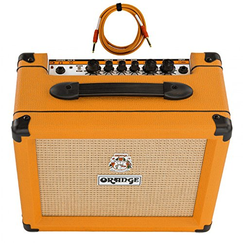Orange Crush 20 Amp 20w CR20 Guitar Combo Amplifier Free Cable Bundle by Orange