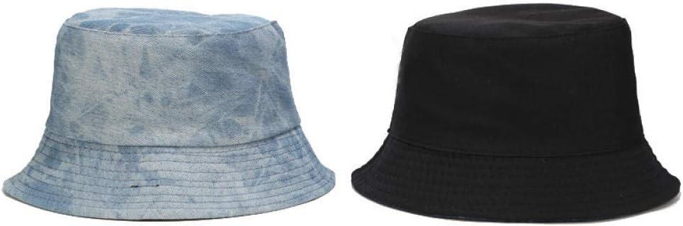 CHEMOXING Gewaschener Retro Tie-Dye Fischerhut Damen Spring Denim Doppelseitige W/äsche Becken Hut Outdoor Sonnenhut