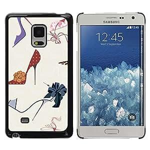 Be Good Phone Accessory // Dura Cáscara cubierta Protectora Caso Carcasa Funda de Protección para Samsung Galaxy Mega 5.8 9150 9152 // Fashion Stiletto Woman Pastel