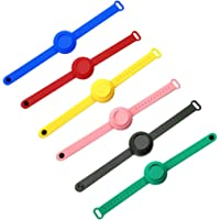 6PC Wristband Hand Dispenser for Kids & Adults, Hand Sanitizer Silicone Refillable Wristband, Wearable Dispenser 15mL