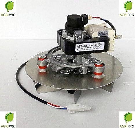 Extractor de humos, estufa, pellet, ventilador universal, 48 W Trial con cable codificador: Amazon.es: Hogar
