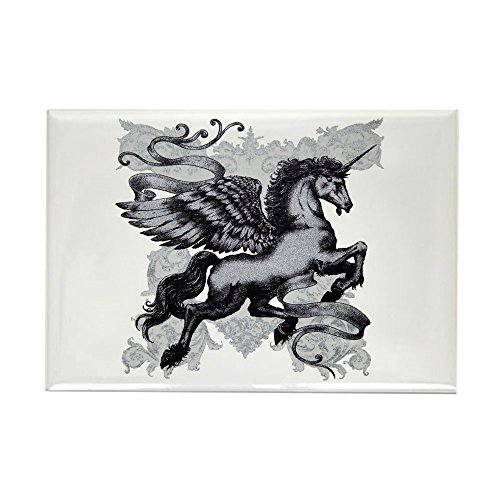 Rectangle Magnet Unicorn with Wings
