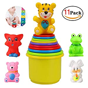 YaptheS Baby Stacking Up Toys Cups with Animal Set of 11 for Toddlers Early Educational Toy Stacker Baby Toy Cups by YaptheS that we recomend individually.