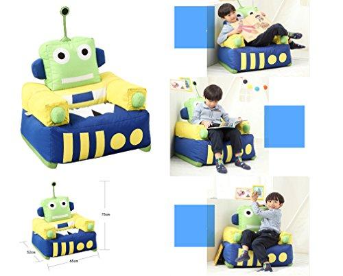 QuWei Childrens Sofa Chair Cartoon Robots Boy Filling Bean Bags Sofa Cloth Sets