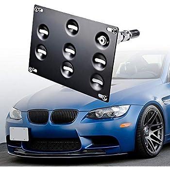 Amazon com: DEWHEL Front Bumper Tow Hook License Plate Mount