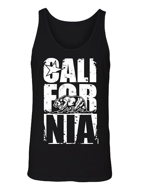 1d2314ede6 Amazon.com: Manateez Men's California Bear Block Letters Tank Top: Clothing
