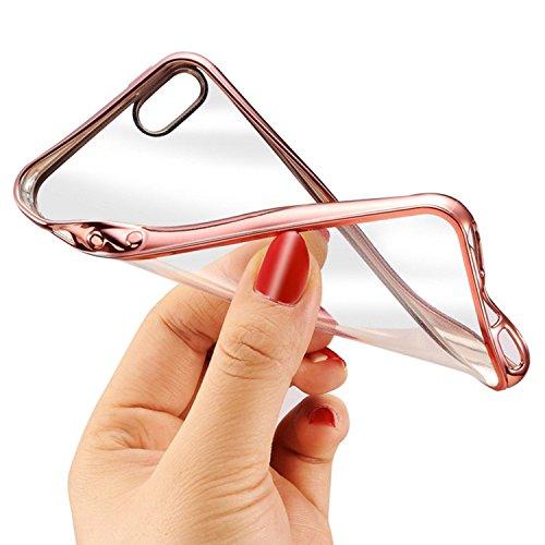 2 X protezione dello schermo in vetro temprato Pellicole protettive PER display + Iphone 7 7s Custodia COVER CASE Transparent PER Iphone 7 7s Colore del paraurti di alta qualità ORO ROSSO Chi brilla A