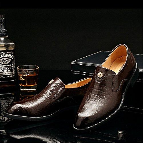 Oscuro Cordones Zapatos Papel de de XHD Marrón para Shoes Hombre qHnSwz
