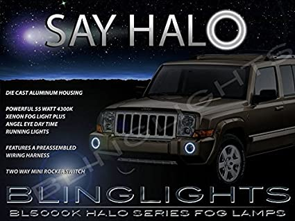 image unavailable  image not available for  color: 2006-2010 jeep commander  halo angel eye bumper fog lamps